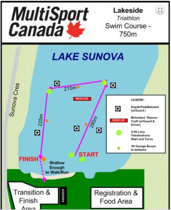 Lakeside Sprint Swim Course